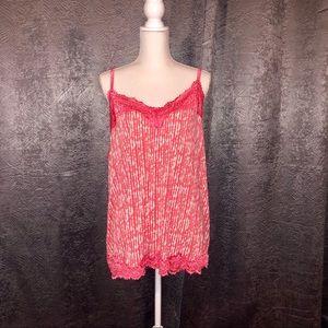 2/$10 Lane Bryant pink laced sleepwear